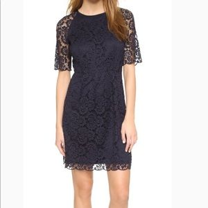 Like New Madewell Magnolia Lace Dress in Navy